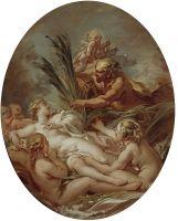Пан и Сиринкс (набросок) (95 х 79) (1762) (Мадрид, Прадо)