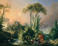 Пейзаж с античным храмом (1762) (58.5 х 72) (Мадрид, Музей Тиссен-Борнемис)