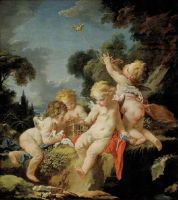 Путти с птицами (ок.1730-1733) (Гонолулу, Музей искусства)