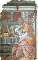 Св.Августин (ок.1480) (фреска) (152 x 112) (Флоренция, Огниссанти)
