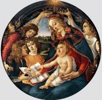 Мадонна 'Магнификат' (1480-1481) (118 см) (Флоренция, Уффици)