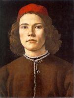 Портрет молодого человека (1480-1485) (37 х 28) (Лондон, Нац. галлерея)