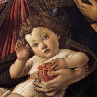 Мадонна с гранатом (тондо). Деталь. Младенец