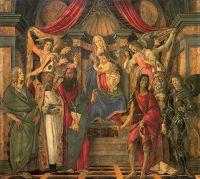 Алтарь св.Барнабаса 'Сан Барнаба' (ок.1488) (268 х 280) (Флоренция, Уффици)