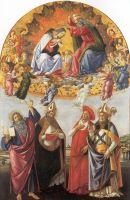 Алтарь 'Сан Марко'. Коронация Богоматери (1490-1492) (Флоренция, Уффици)