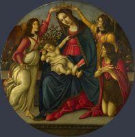 Мадонна с млад., св.Иоанном Крестит. и двумя ангелами (1490-1500) (Лондон, Нац.галерея)