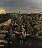 Вид Вены, замок Кауниц. Деталь (1759-1760)