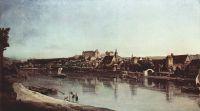 Вид Пирны, Пирна со стороны Копица с крепостью Зонненштайн (1755)