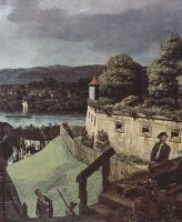Вид Пирны, Пирна, вид со стороны крепости Зонненшайн. Деталь (1755)