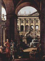 Каприччио, дворцовые ворота, лоджия и большой фонтан в Войода Потоки (1764)