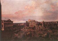 Руины Pirnaische Vorstadt в Дрездене (1762-1763)