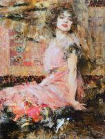 Дама в розовом (Портрет Н.Подбельской) (1912)