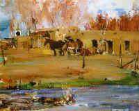 Лошади перед адобе (1927—1933)