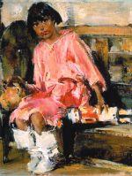 Мануэлита с качиной — ритуальной игрушкой (1927—1933)