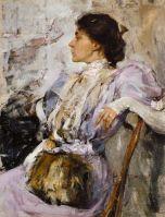 Портрет неизвестной (Дама в лиловом). Этюд (1908)