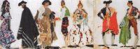 Эскизы костюмов к опере Ж.Бизе Кармен (7 фигур) (1920—1923)