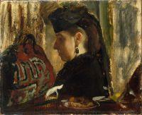 Портрет Мадемуазель Мари Дье (1843-1935) (ок.1868) (22.2 х 27.3) (Нью-Йорк, Метрополитен)