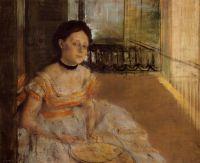 Женщина, сидящая на балконе (1872) (Дания, коллекция Ordrupgaard)