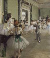 Балетная студия (с тростью балетмейстер Жюль Перро) (1874) (85 х 75) (Париж, музей Орсэ)