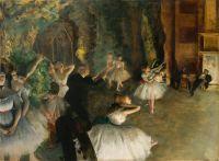Репетиция балета на сцене (ок.1874) (54.3 х 73) (Нью-Йорк, Метрополитен)