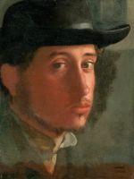 Автопортрет в мягкой шляпе (1858) (21 х 16.2) (Лос-Анжелес, музей Пола Гетти)