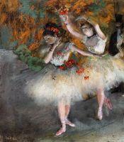 Две танцовщицы, выходящие на сцену (1877-1878) (Гарвардский универ-ет, Музей Фогга)