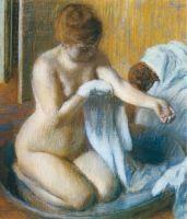 После купания (1885-18860 (70 х 70) (Париж, музей Орсэ)
