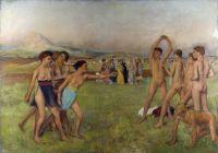 Спартанские девушки вызывают на состязание спартанских мальчиков (1860) (Лондон, Нац. галерея)