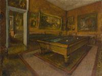 Бильярдная комната в Менила-Юбер (1892) (50 х 65) (Париж, музей Орсэ)