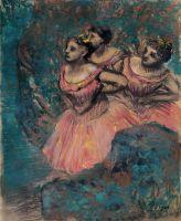 Три танцовщицы в красном (1896) (65.9 х 54.4) (Курасики, музей Охары)