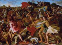 Битва израильтян с амалекитянами (Победа Иисуса Навина) (1624-1625) (97.5 x 134) (С-Петербург, Эрмитаж)