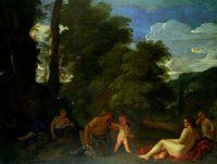 Нимфы и сатир (1625) (97 х 127.5) (Кливленд, Музей искусства)