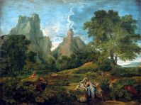 Пейзаж с Полифемом (1649) (155 x 199) (С-Петербург, Эрмитаж)