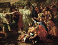 Поклонение золотому тельцу (1633-1634)_фрагмент