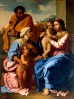 Святое Семейство со св. Елизаветой и св. Иоанном Крестителем (между 1644 и 1655) (172 x 133.5) (С-Петербург, Эрмитаж)