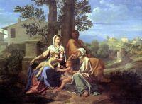 Святое семейство со свв.Елизаветой и Иоанном Крестителем (ок.1650) (94 х 122) (Париж, Лувр)