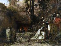 Преследователи христиан у входа в катакомбы. 1874