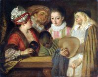 Актеры французского театра (1711-1712) (20 х 25) (С-Петербург, Эрмитаж)