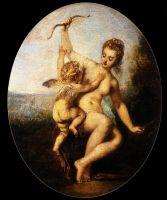 Венера разоружает Амура (47 х 38) (Шантильи, музей Конде)