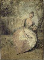 Влюблённая (между 1715 и 1717) (24 ? 17.5) (Шантильи, музей Конде).