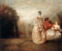 Две кузины (ок.1716) (30 х 36) (Париж, Лувр)