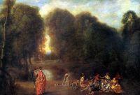 Общество в парке (ок.1716-1717) (33 х 47) (Париж, Лувр)