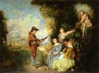 Урок любви (ок.1716) (44 х 61) (Стокгольм, Нац. музей)