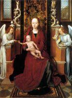 Мадонна с младенцем на троне между двумя ангелами (ок.1485-1490) (68,2 x 51.5) (Великобритания, Монастырь св.Осита)