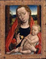 Мастерская Мемлинга. Мадонна с младенцем (ок.1490) (27.3 x 21) (Нью-Йорк, Метрополитен)