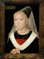 Портрет молодой женщины (1480) (38 х 26.5) (Брюгге, Музей Мемлинга)