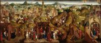 Семь радостей Марии (Явление и триумф Христа) (ок.1480) (81 х 189) (Мюнхен, Старая пинакотека)