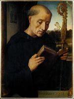 Триптих Бенедетто Портинари (1487)_левая панель. Св.Бенедикт (45 х 34) (Флоренция, Уффици)