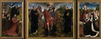 Триптих Виллема Морела (открыт) (1484) (центр - св.Христофор, 141х174) (створки - 141х87, слева-Виллем Морел, справа-Барбара ван Влаендерберх)