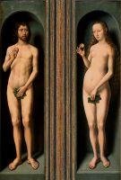 Триптих 'Мадонна с младенцем' (закрыт). Адам и Ева (ок.1485-1490) (Вена, Музей истории искусств)